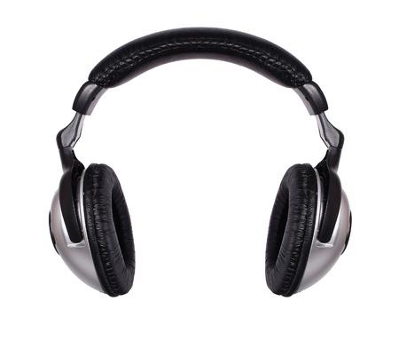audifonos: Auriculares aislados sobre un fondo blanco