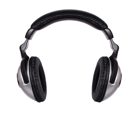 casque audio: Casque isol� sur un fond blanc Banque d'images