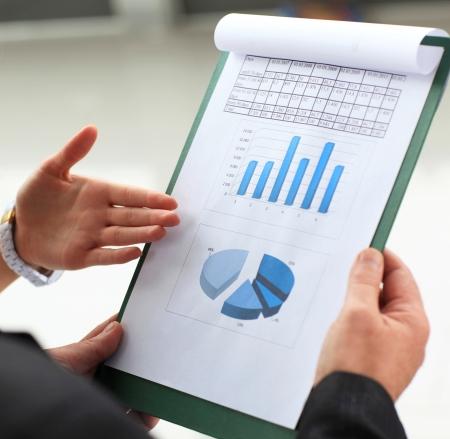 sales report: Stock market graphs monitoring