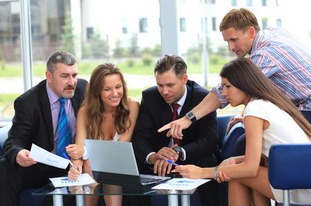 informal: business team in business meeting
