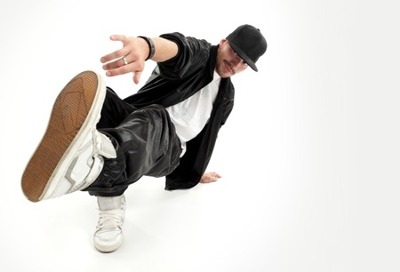 aerobica: hip-hop style dancer posing on isolated