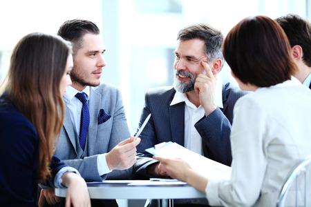business concept - business team having meeting in office Banco de Imagens - 31415943