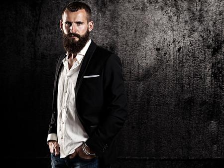 hombre con barba: Retrato de un hombre con barba