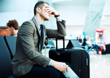 enfermos: retraso de vuelo Foto de archivo