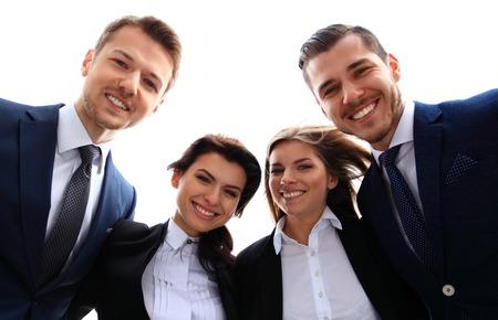 행복한 미소 사업 팀 스톡 콘텐츠