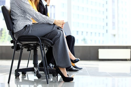 interview: Business people waiting for job interview in office