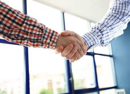 Good job! Business People Meeting Discussion Corporate Handshake Concept