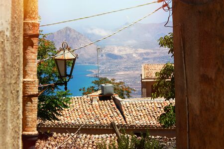 erice: Beautiful Landscape of the Erice, Sicily Italy Stock Photo