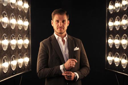 Elegant young handsome man. Studio fashion portrait Zdjęcie Seryjne