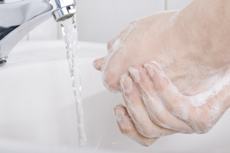 anti bacterial soap: Washing Hands