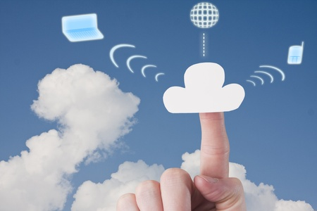 Cloud Hosting Services Stock Photo - 19874424