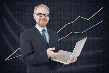 Businessman Presenting Rising Graph