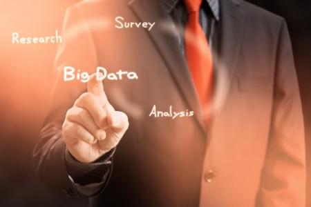 Big Data Gathering Virtual Screen Concept Stock Photo - 22935772