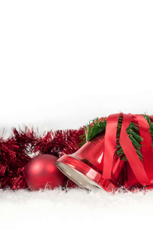 Christmas Decoration Bells and Sphere with Copyspace