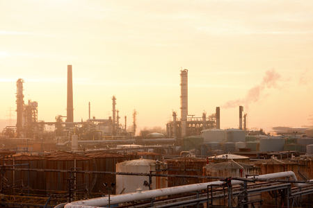 gasoil: Warm Sunny Evening at Industrial Complex