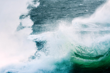 Sea Splashing and Spraying. Slight Cool Tone.