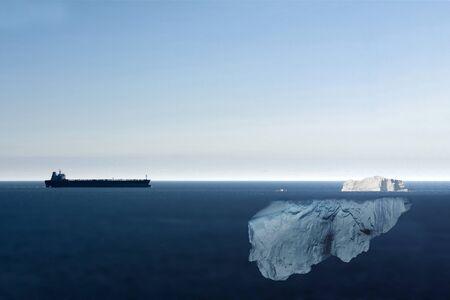 Motor Tanker Heading Towards Iceberg