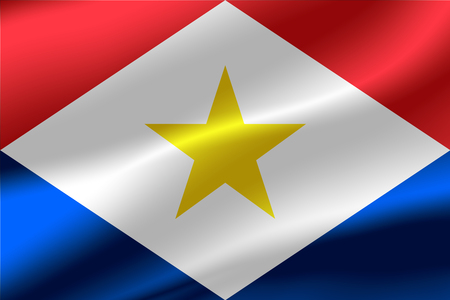 Flag of Saba as the background. Stock Photo