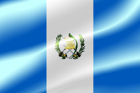 Flag of Guatemala as the background.