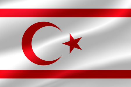 Flag of Northern Cyprus as the background. Stock Photo