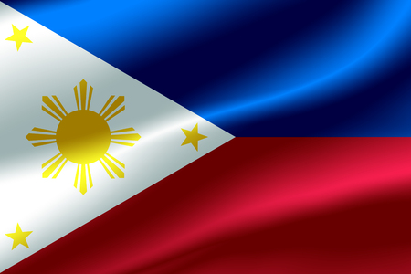 Flag of Philippines as the background. Stock Photo