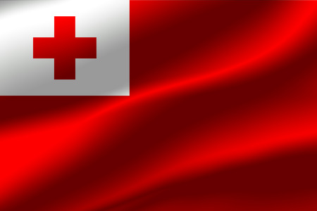 Flag of Tonga as the background. Stock Photo