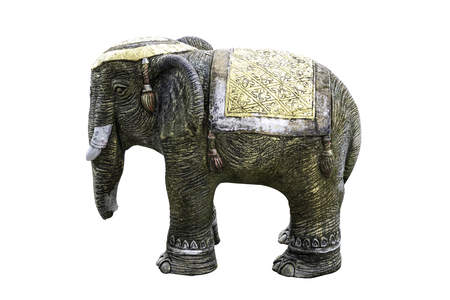 The elephant statue from cement, Related to the belief in Buddhism in Thailand.
