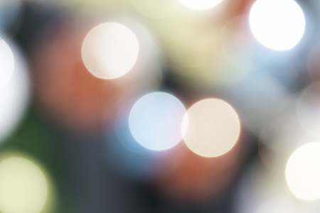 Color Bokeh Background. Defocused Abstract Soft Lights With Blurred Design Elements. Festive Unfocused Backdrop. Foto de archivo - 115673778