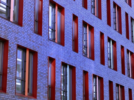 abstractly: Modern Building Cologne  Stock Photo
