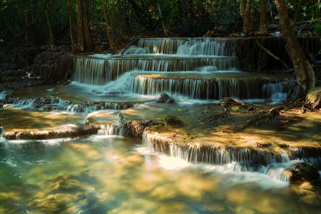 khamin: Tier 6 of Huay Mae Khamin waterfall in Kanchanaburi, Thailand