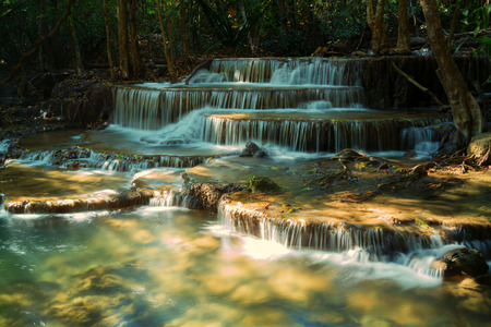 tier: Tier 6 of Huay Mae Khamin waterfall in Kanchanaburi, Thailand