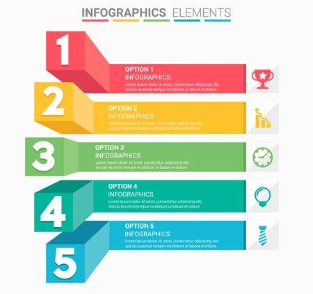 INFOGRAFIA Schody biznesowe element projektują numer