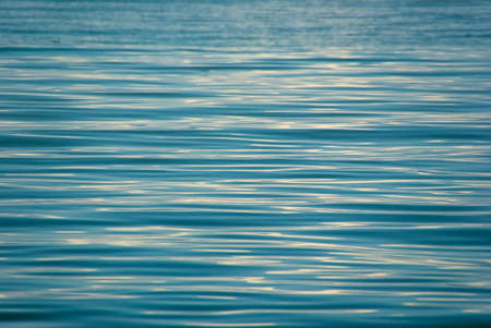 Water ripples on a surface lake