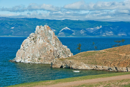 Shaman rock on Olkhon Island (Lake Baikal, Russia). photo