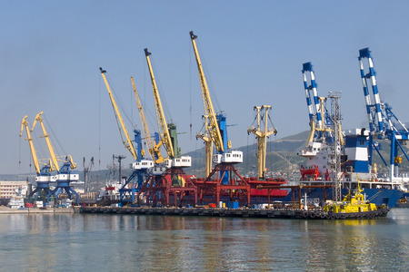Sea trading port in the Novorossiysk, Russia