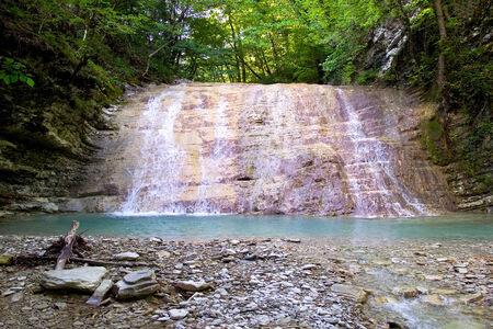 Plesetsk waterfalls. Gelendzhik, Russia