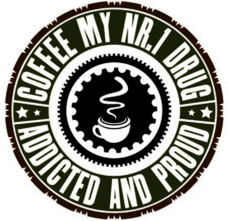 addicted: Coffee addicted - circular motif