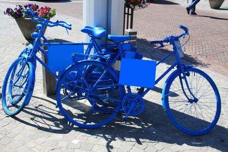 spoked: Blue bicycles