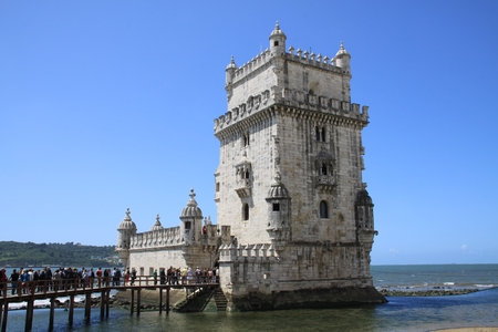 fortified: Fortified tower in Lisbon