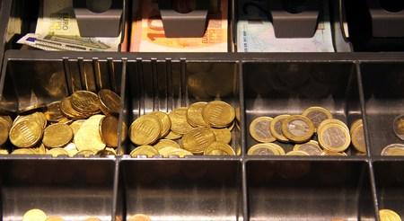 to till: Money in the till