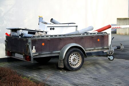 loaded car trailer