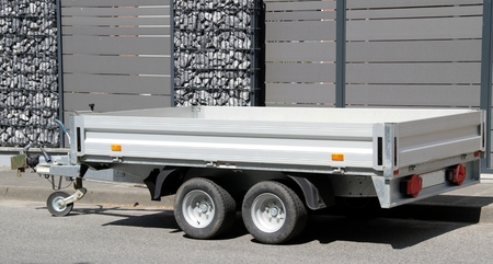 new modern car trailer Reklamní fotografie - 58707416