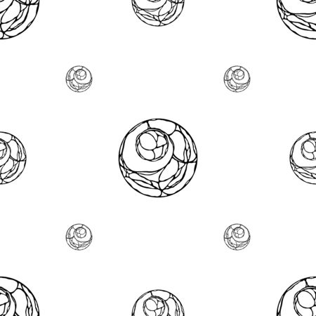 fluent: Abstract seamless vector pattern with tangles