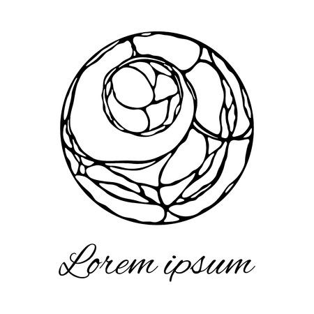 Stylish abstract logo, tangle design