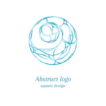 tangle: Stylish abstract tangle logo, aquatic design
