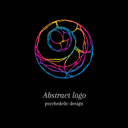 Stylish abstract tangle logo, psychedelic design