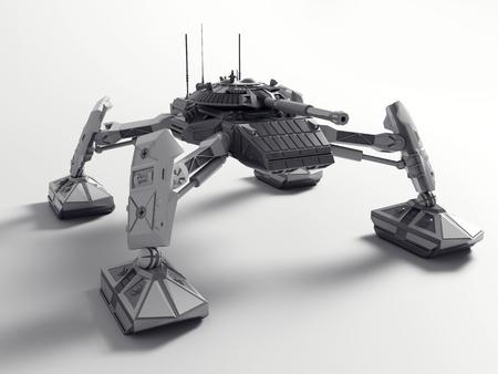 Fantasy Futuristic walking Tank. Original idea and modeling author. 3d Render.