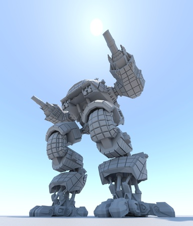 Fantasy Futuristic walking Tank. Original idea and modeling author. 3d Render.