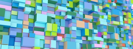 the abstract ground boxes,cubes
