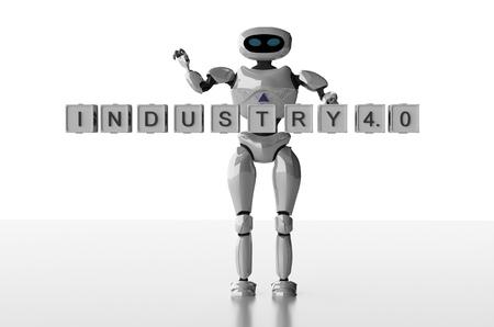 The robot female,industry 4.0,3d render. 写真素材